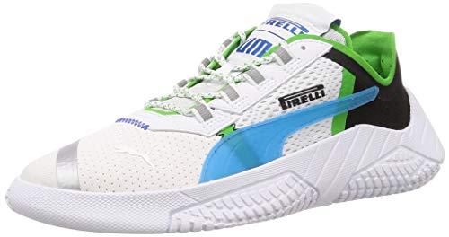 PUMA Replicat X Pirelli Low Boot Sneaker Weiss-Schwarz-Classic Grün, tamaño:44