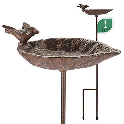 WILDLIFE FRIEND | kleine Vogeltränke auf Stab Vogelbad - Witterungsbeständig, Futterschale, Vogelbecken - Stehende Wassertränke