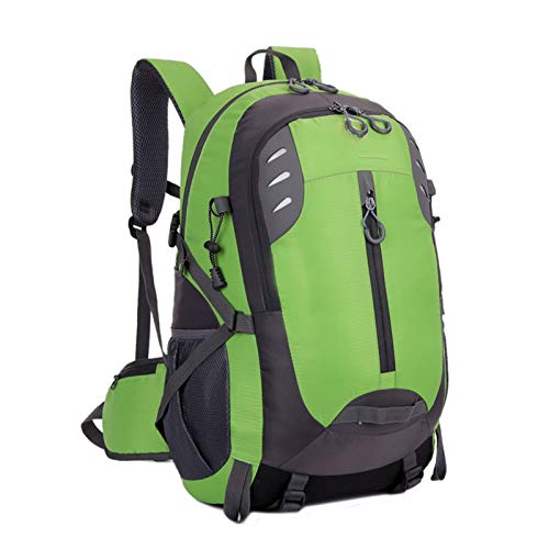 Resistente al Agua Mochila 45L, Portátil Mochila Trekking, Laptop Daypack, Durable Impermeable, para Escalada, Viajes, Actividades al Aire Libre Trekking Camping al Aire Libre Excursiones,Verde