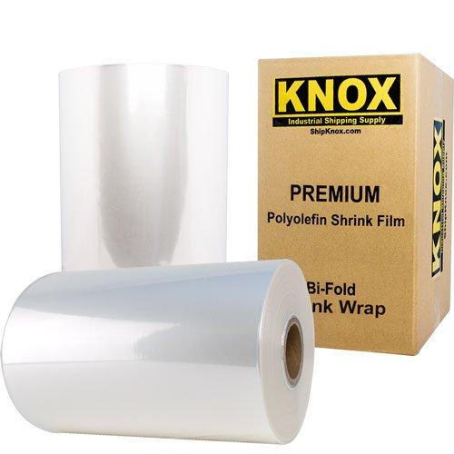 "Knox Brand - 16"" 75 Gauge Polyolefin Shrink Film Heat Wrap POF Centerfold 3500' feet"