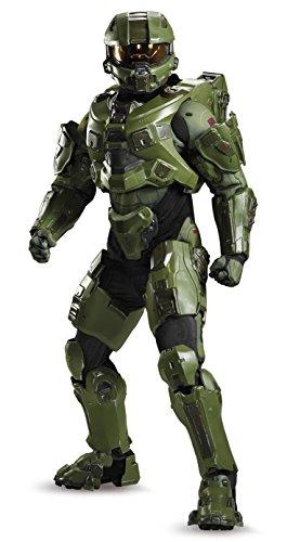 Disguise Men s Halo Master Chief Ultra Prestige Costume  Green  Medium