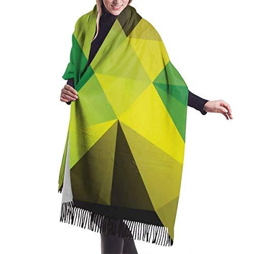 Quecci Jamaica Flag TriangularPolygonalPattern Pashmina Shawls And Wraps Large Scarfs For Women Oversized Shawl Cape Winter Unisex Blanket Scarf 68-196cm