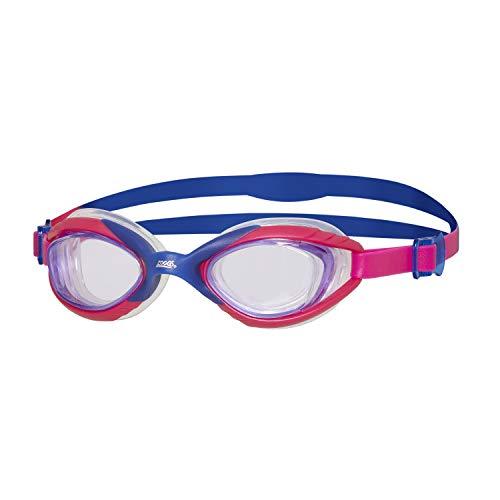 Zoggs Sonic Air Junior - Occhialini da Nuoto Unisex con Protezione UV e Anti-Appannamento, Occhialini da Nuoto, Pink/Purple, 6-14 Anni