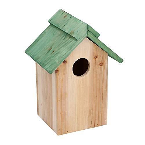 Lifetime Holz Vogelhaus Nistkasten Vogelhäuschen Nisthaus Vogelfutterstation Nisthöhle Vogelnest aus Naturholz