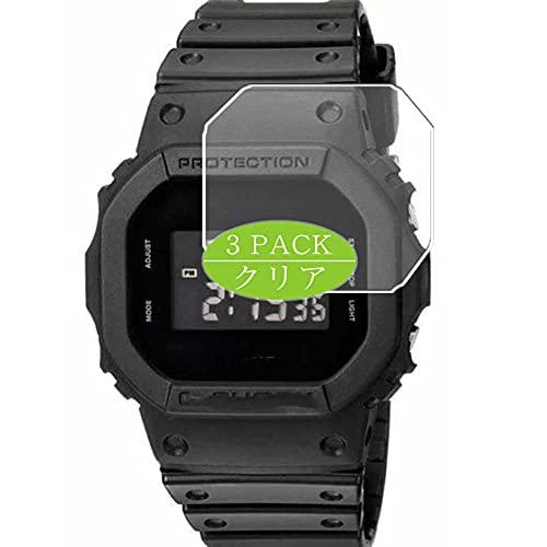 3枚 VacFun フィルム , カシオ casio G-SHOCK BASIC FIRST TYPE DW-5600E Series -1V DW5600E-1V 向けの 保護フィルム 液晶保護 フィルム 保護フィルム(非 ガラスフィルム 強化ガラス ガラス ケース カバー )スマートウォッチ と互換性のある 腕時計 ニュー