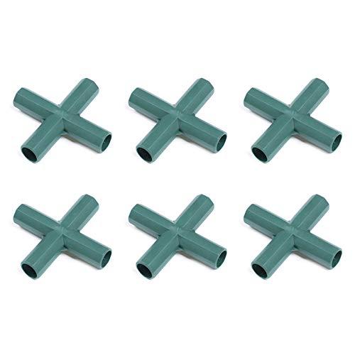 Takefuns Conector de marco para herramientas, accesorios de soporte de plantas, 6 piezas para jardín, diámetro de 16 mm, junta de invernadero