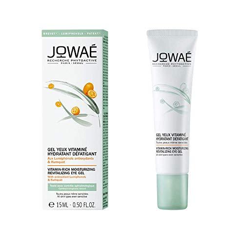 Jowaé Gel Occhi Vitaminizzato Idratante Anti-Fatica ai Lumifenoli Antiossidanti e Kumquat, Decongestionante, per Tutti i Tipi di Pelle, anche la più Sensibile, Formato da 15 ml
