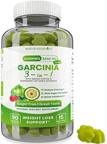 Fat Burning Gummies Pure Extract Garcinia Cambogia Green Coffee Raspberry Ketones Keto Friendly product image