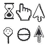 6pcs / Set Spilla Pulsante del Fumetto Creativo Sveglio del Mouse del Calcolatore del Sistema Proibire Ricerca Cursore Spille Borsa Cappello Badge