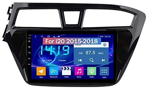 LINGJIE Android Double DIN SAT NAV für Hyundai I20 2015-2018 GPS Navigation Touchscreen Reversing Video Multimedia Player Videoempfänger,4g WiFi 2g+32g