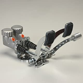 Basic Pedal Assembly With Roller Throttle And Round Reservoirs 7/8 Brake 5/8 Clutch Dune Bug Buggy Sandrail Atv Baja Bug Trike