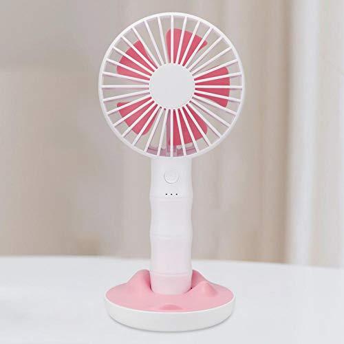 KUIDAMOS Mini Ventilador de Mano Ventilador ABS Ventilador USB eléctrico de Escritorio Giratorio de 90 ° para Estudiantes Trabajador para Exteriores, Interiores(Pink)