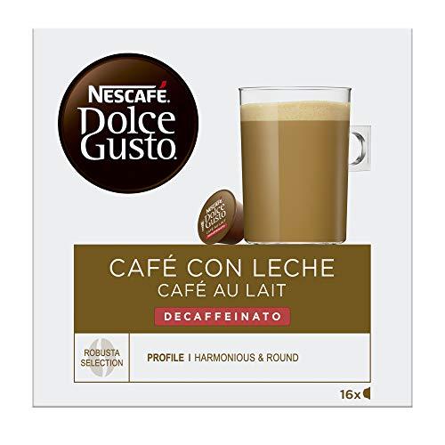 Nescafé Dolce Gusto Café con Leche Descafeinado, 16 Cápsulas
