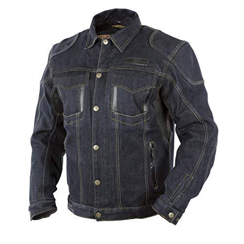 Trilobite Herren Jeans Motorradjacke Agnox, Schwarz, M, 3096304