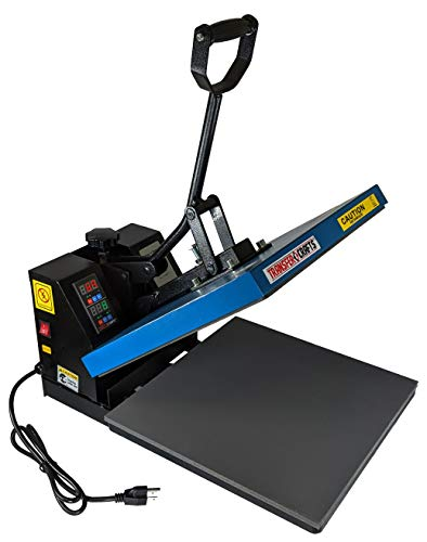 Transfer Crafts T-Shirt Heat Press – Digital Sublimation Press Machines for T Shirt Printing and Heat Transfers (Blue, 15' x 15')