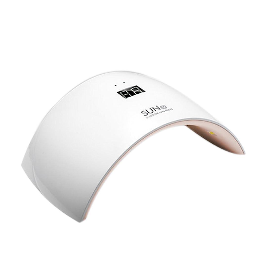 ボーダー相談従事するSymboat ネイルアートツール 24W ネイルドライヤー ライト付き ボトム液晶 ディスプレイ 硬化用UVライト led ランプ爪トゥール ネイルジェル ベース ポリッシュ 4段階タイマー設定時間設定10S/30S/60S/99S 自動消灯 ネイル道具?ケアツール マニキュア マシン光線療法ランプ (ホワイト)