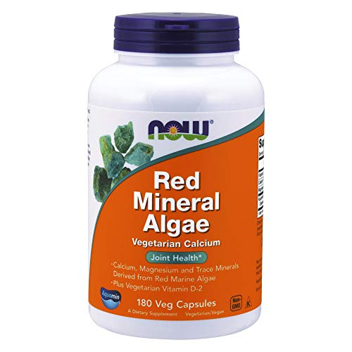 NOW Supplements, Red Mineral Algae Plus Vitamin D-2, Joint Health*, 180 Veg Capsules (Bollinger Special Cuvee Best Price)
