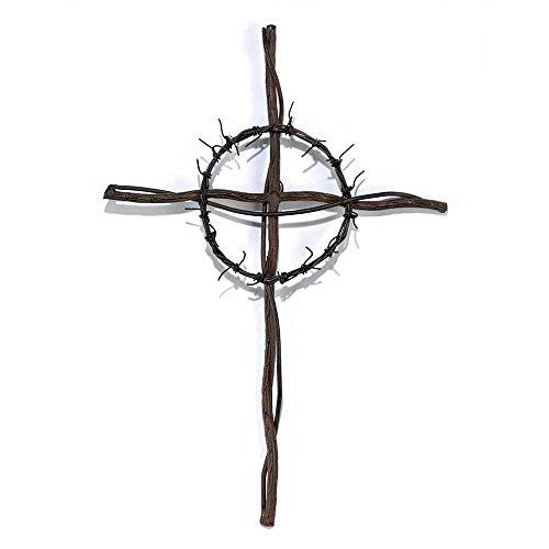 Dicksons Crown of Thorns Tree Branch 14 x 10 Metal Wall Cross