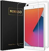 【ガイド枠付き】Nimaso iPad 10.2 (iPad 8世代 / iPad 7世代) ガラスフィルム iPad8 強化 ガラス 保護 フイルム (iPad 第8世代 2020/ iPad 第7世代 2019 対応)