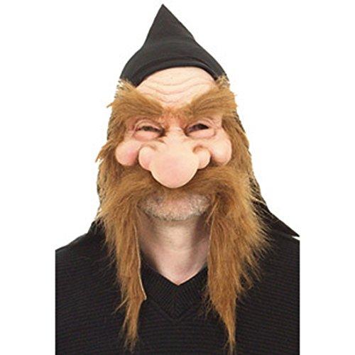 NET TOYS Zwergen Faschingsmaske Latex Maske Gummimaske Zwerg Zwergenmaske Gnommaske Wichtel