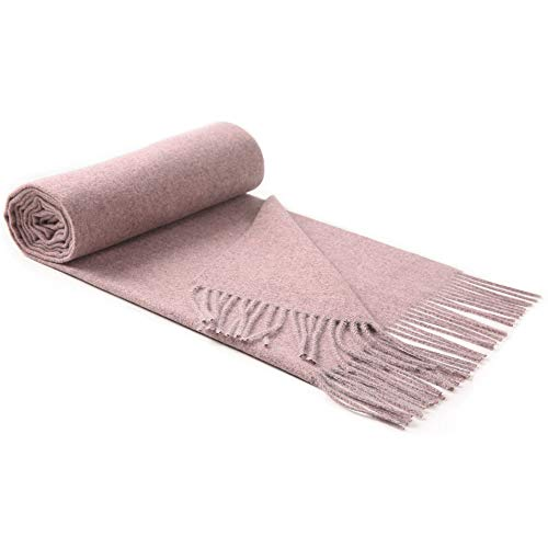 Lallier Luxury Cashmere Scarf for Women, Long Thick Soft Pashmina Wool Wraps Shawls 78'' × 24'' Extra Large Winter Stole (Lavender)
