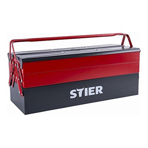 STIER Werkzeugkasten leer, sehr robust und wiederstandsfähig, aus hochwertigem Stahlblech,...