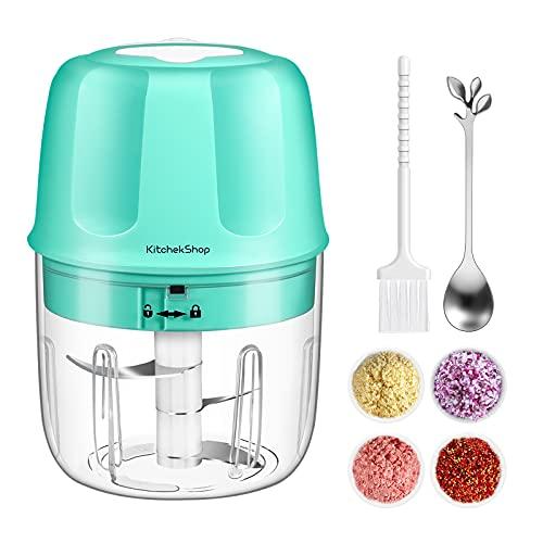 Electric Garlic Chopper, Portable Cordless Mini Food Processor,...