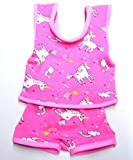 Schwenk Puppen Kleidung pink Unterwäsche Einhorn Motiv für 42 cm - 45 cm Puppen, Nr. 2443