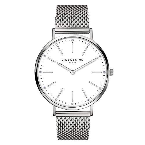 Liebeskind Berlin Damen Analog Quarz Uhr mit Edelstahl Armband LT-0187-MQ