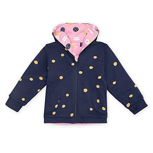 Sigikid Mädchen Mini Wendejacke mit Kapuze aus Bio-Baumwolle, Größe 098-128 Jacke, Rosa/Blau, 110