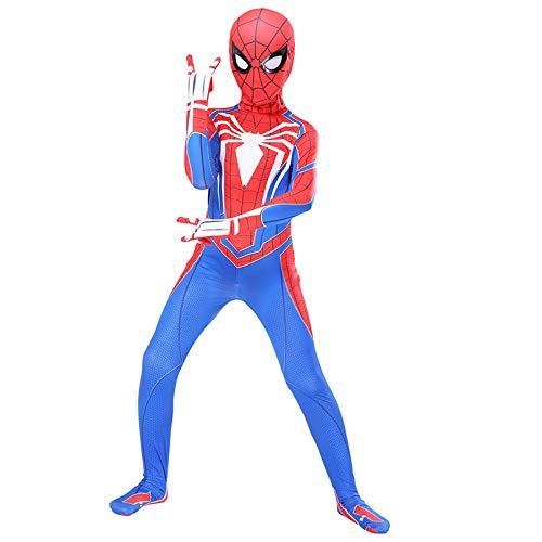 LINLIN - Costume personaggio Spiderman PS4, per cosplay, tuta bodysuit da adulto, per fan del film, ideale per feste a tema e gioco di ruolo, taglia L: altezza 160 - 170 cm