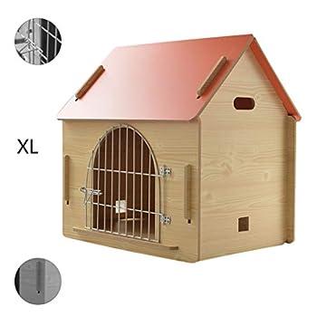 Maison pour animaux lit pour animaux de compagnie Villa pour animaux de compagnie Niche pour chien en plein air Litière pour chat d'intérieur Cages et chenils ( Color : Orange , Size : 79.5*55*74cm )