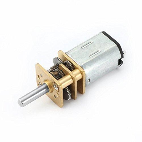 Gesh Motor de reducción de velocidad de 12 V 100 RPM con 2 terminales para coche RC Robot modelo DIY motor juguete