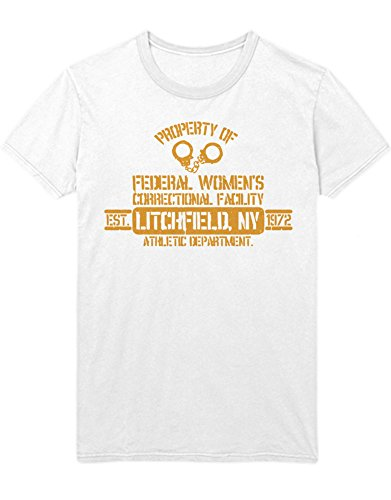 T-Shirt Orange is The New Black Federal Women\'s Correctional Facility C210043 Weiß XXL