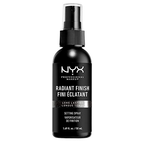 NYX Professional Makeup Setting Spray Radiant, Vegane, langanhaltende und leichte Formel, Fixier-Spray, Strahlendes Finish, 60 ml