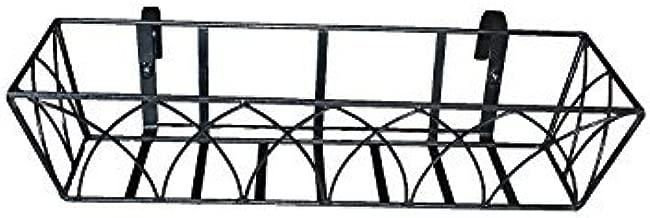 Minerva Naturals Balcony Railing Planter Rectangular Shape, Metal (Black)