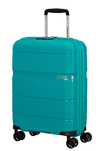 American Tourister Linex Hand Luggage Small (55 cm - 34 L), Blue Ocean (Blue) - 128453-1099