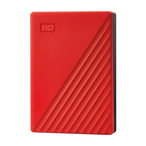 WD ポータブルHDD 5TB USB3.0 レッド My Passport 暗号化 パスワード保護 外付けハードディスク / 3年保証 WDBPKJ0050BRD-WESN