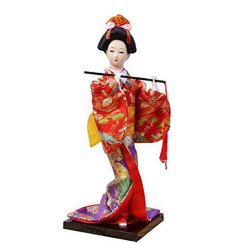 ZAAQ Ornaments Gifts Home Decor Accents Japanese Geisha Kimono Doll Ornaments Desktop Ornament Gifts
