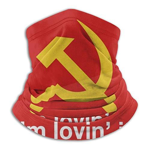 Towel&bag Mikrofaser-Halswärmer für kaltes Wetter, russische Flagge, Schwarz