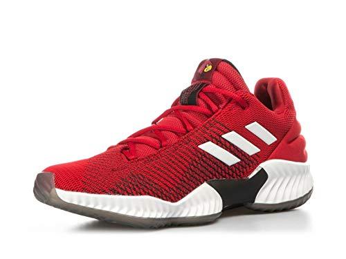 adidas Pro Bounce 2018 Low, Zapatos de Baloncesto Hombre, Rojo (Powred/Ftwwht/Cblack Powred/Ftwwht/Cblack), 36 EU 🔥