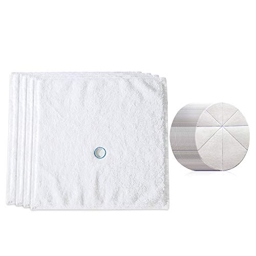 4 Ear Candling Treatment Towels with 20 pcs Ear Candling Protective Discs. Please Note, Ear Candles not Included