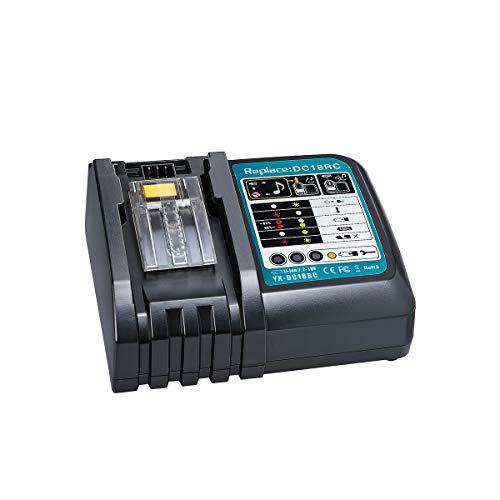 Hipoke 急速充電器 冷却ファン付 出力電流 直流6A 対応マキタ DC18RC 互換充電器 6A for makita7.2v-18v battery 対応 マキタ bl1830 bl1430 bl180b bl18060 bl1430 bl1430