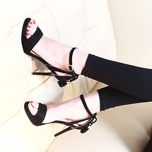 VIVIOO zapatos de tacón Alto Sandalias de tacón Alto Palabra Early Spring Side Tacones Altos mujeres Summer Girl Sandalias Finas Salvajes Open Toe