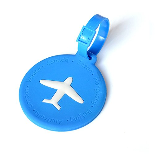 EgBert Kcasa Kc-Lp09 Silikon Travel Gepäck Tags Colorful Silicone Suitcase Label Travel Accessories - 2 - Rot