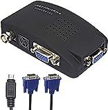 BNC a VGA, S Video VGA a VGA Convertidor de cámara CCTV PC a TV Adaptador BNC Entrada a VGA Entrada a salida VGA Monitor de computadora portátil convertidor para reproductor de DVD DVR Soporte PAL NTS