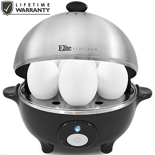 Maxi-Matic EGC-508 Easy Electric Egg Poacher, Omelet & Soft, Medium, Hard-Boiled Measuring Cup Included, 7 Capacity, Stainless Steel