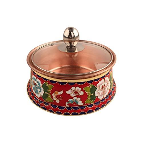 PIAOLING Cloisonné Copper Hot Pot,...