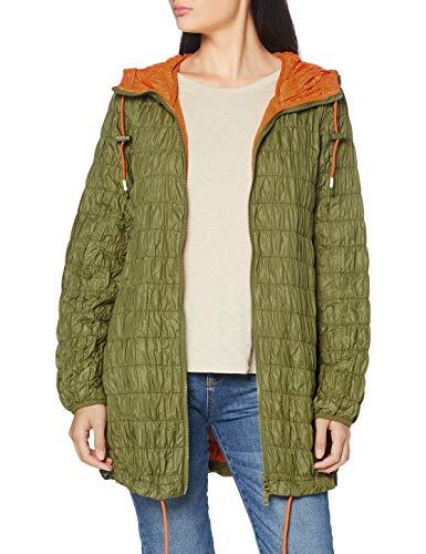 United Colors of Benetton Giaccone Abrigo, Verde (Verde Oliva 904), 34 (Talla del Fabricante: 38) para Mujer