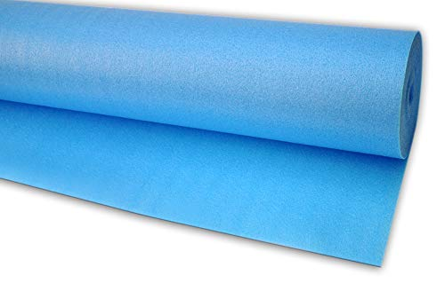 Isolmant ST Blu | Materassino isolante sottopavimento in polietilene Isolmant ad alta densità per pavimenti in laminato e parquet, 15 mq